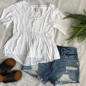 American eagle hi-low shirt